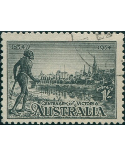 Australia 1934 SG149a 1/- Victoria Centenary, perf 11½ FU