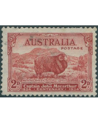 Australia 1934 SG150 2d Macarthur FU