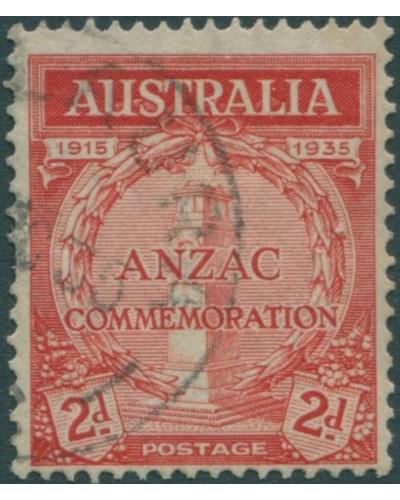 Australia 1934 SG154 2d red Anzac Commemoration FU