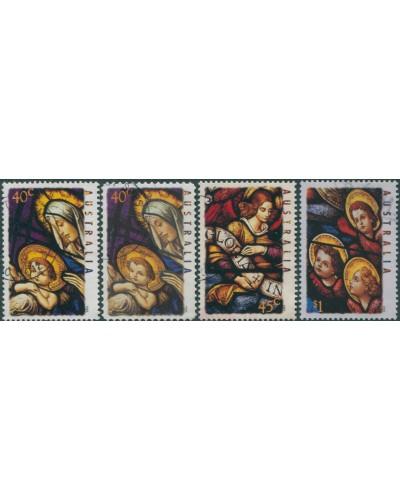 Australia 1995 SG1569-1572 Christmas inc diecut set FU