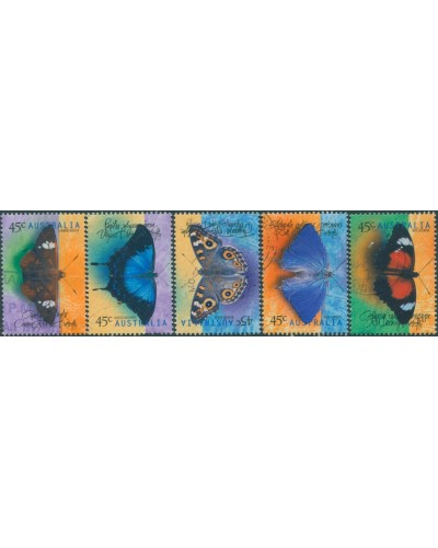 Australia 1998 SG1815-1819 Butterflies set FU