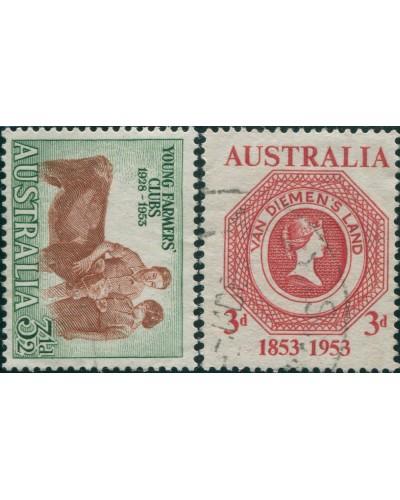 Australia 1953 SG267-271 Commemoratives FU
