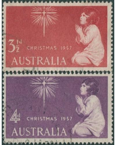 Australia 1957 SG298-299 Christmas, set of 2 FU