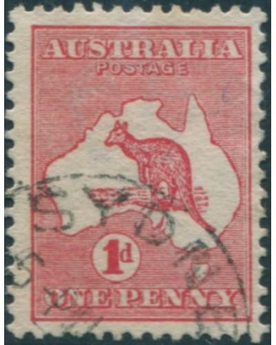 Australia 1913 Sc#2,SG2 Kangaroo 1d red 1st Wmk FU