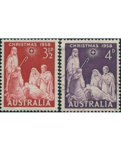 Australia 1958 SG306-307 Xmas set FU