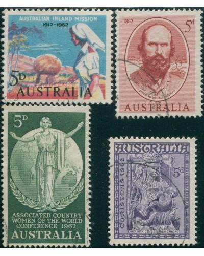 Australia 1962 SG342-345 5d Commemoratives FU