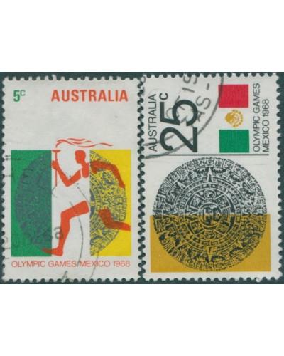 Australia 1968 SG428-429 Mexico Olympics set FU