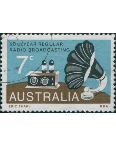 Australia 1973 SG560 7c Radio Broadcasting FU