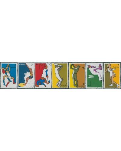Australia 1974 SG569-575 Sports set FU