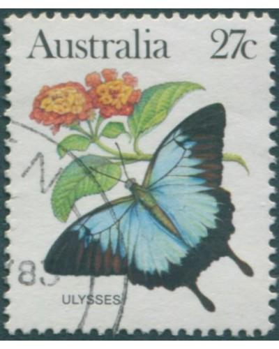 Australia 1983 SG791 27c Ulysses butterfly FU