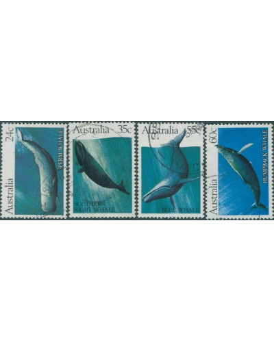 Australia 1982 SG838-841 Whales set FU