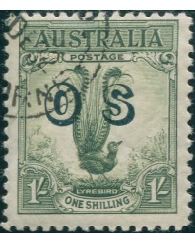 Australia 1932 SGO136 1/- Lyrebird OS full gum CTO