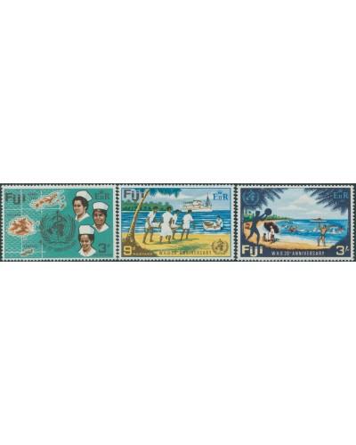 Fiji 1968 SG388-390 WHO 20th Anniversary set MLH