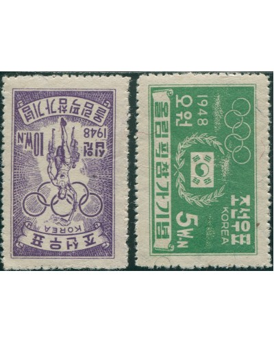 Korea South 1948 SG100 Olympic Games set MNH