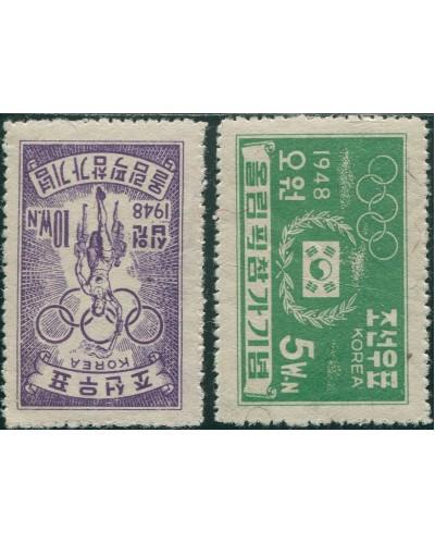Korea South 1948 SG100 Olympic Games set MNH