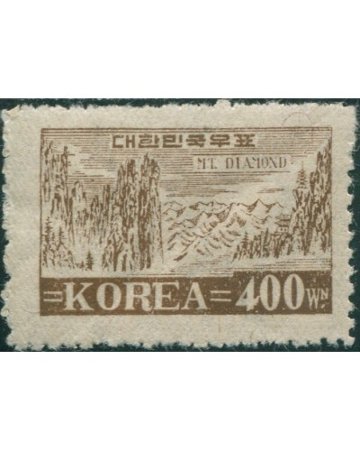 Korea South 1949 SG124 400w Diamond Mountains MLH