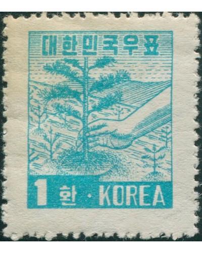 Korea South 1953 SG199 1h Tree-planting MLH