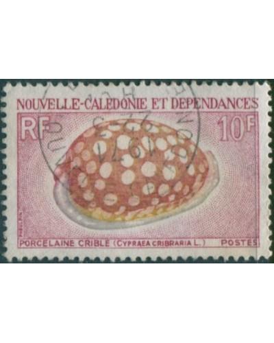 New Caledonia 1968 SG449 10f Sieve Cowrie Shell FU