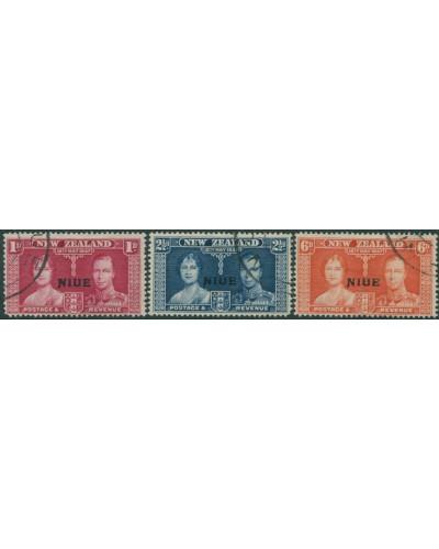 Niue 1937 SG72-74 Coronation set FU