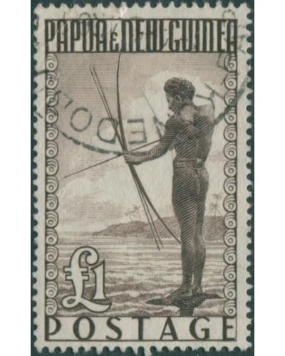 Papua New Guinea 1952 SG15 ₤1 Papuan fisherman FU