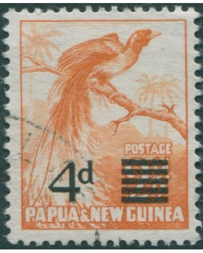 Papua New Guinea 1957 SG16 4d on 2½d Bird of Paradise FU