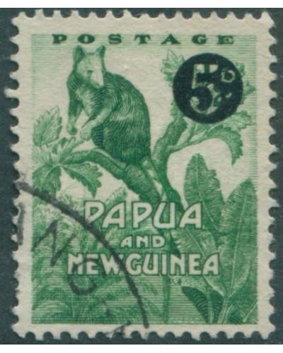 Papua New Guinea 1952 SG25 5d on ½d Tree Kangaroo FU