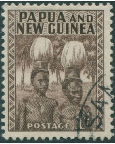 Papua New Guinea 1952 SG2 1d Buka Head-dresses FU