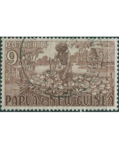 Papua New Guinea 1952 SG9 9d Copra Making FU