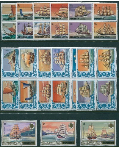 Cook Islands Penrhyn 1981 SG166-208 Ships set of 43 MNH