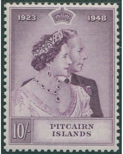 Pitcairn Islands 1949 SG12 10s KGVI and QE MLH