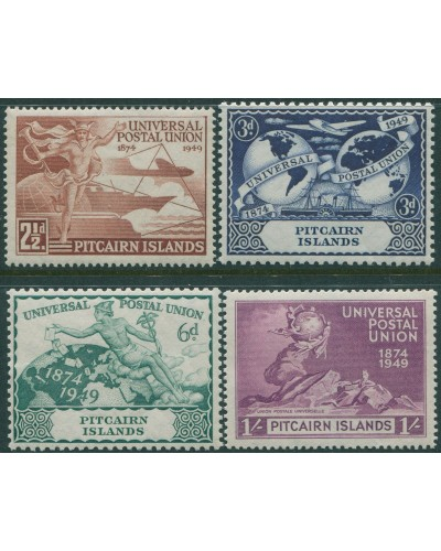 Pitcairn Islands 1949 SG13-16 UPU set MLH