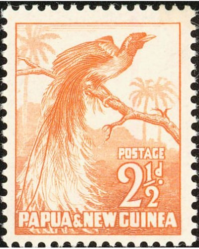 Papua New Guinea 1952 SG4 2½d Greater Bird of Paradise MLH