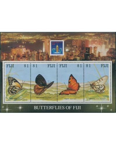 Fiji 1994 SG889 Butterflies Hong Kong Exhibition MS MNH