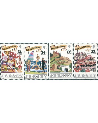 Jersey 1990 SG521-524 Festival of Tourism set MNH