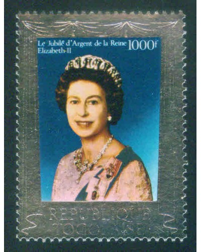 Togo 1977 SG1179 1000f QEII Silver Jubilee MNH