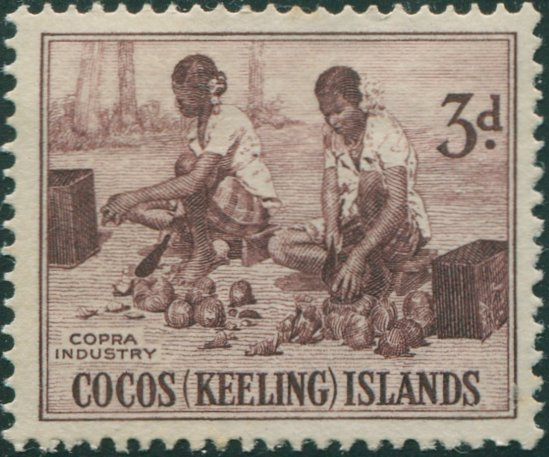First Stamp of Cocos Islands