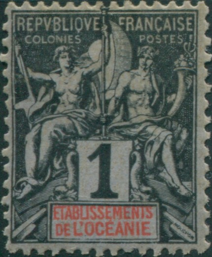 First Stamp of French Oceania