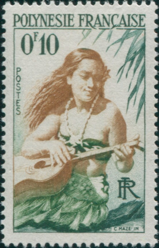 First Stamp of French Polynesia