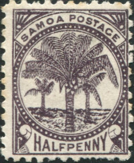 Early Samoan Stamp
