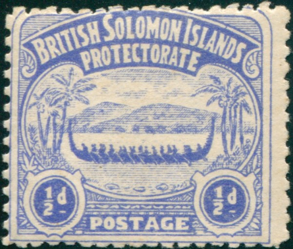 First Stamp of the Solomon Islands
